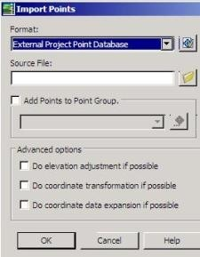 clip image0084 AutoCAD Civil 3D, importing points from an external database