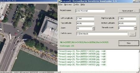 Allallsoft, a software to download maps from Google, Yahoo