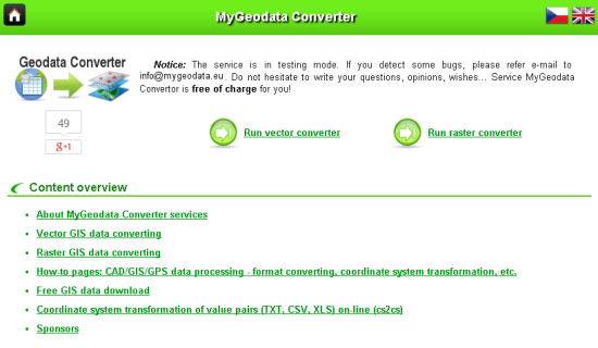 Free online converter for GIS – CAD and Raster data