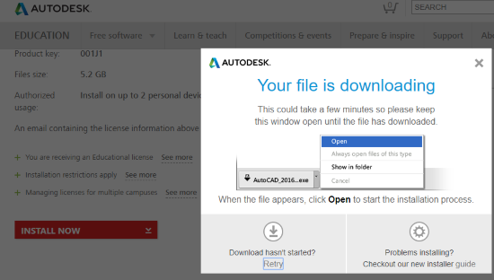 How to download AutoCAD 2018 – Educational version – Autocad